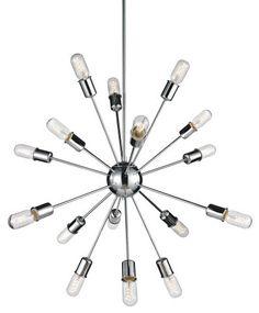 "16 LIGHT SPUTNIK CHANDELIER :: DINING & BEDROOM CHANDELIERS <BR>(20""-34"" DIA.) :: Ceiling lights Toronto, Bath and vanity lighting, Chandelier lighting, Outdoor lighting and kitchen lights :: Union"