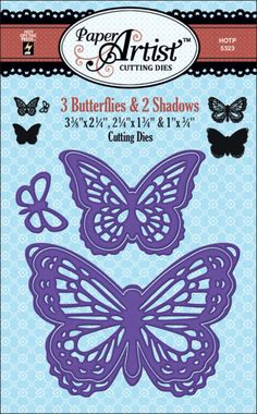 Paper Artist™ 3 Butterflies & Shadows Cutting Dies by Hot Off The Press Inc (4105323)