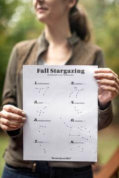 Printable Fall Stargazing Worksheet | dreamgreendiy.com + @Duraflame #ad #duraflame