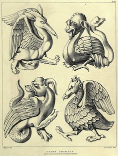 Fabulous beasts and chimeras. Medieval revival sculptural motifs from Rouen…