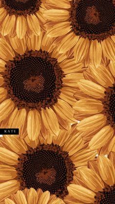 Cute Fall Wallpaper, Orange Wallpaper, Sunflower Wallpaper, Retro Wallpaper, Print Wallpaper, Pattern Wallpaper, Iphone Wallpaper Sky, Cute Wallpaper Backgrounds, Pretty Wallpapers