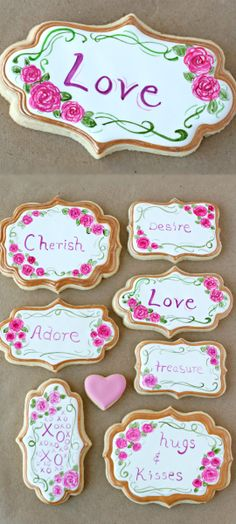 Party DIY ● Tutorial ● Pretty Painted Valentine's Cookies
