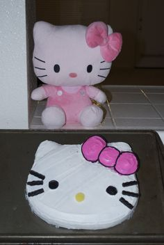 Simple Hello Kitty cake Our Creations Pinterest Hello kitty