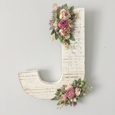 Ornate wildflower wooden letter of your choosing in distressed wood and dried flowers. EVERY LETTER AVAILABLE with the exception of X Y and Z, just indicate preference at checkout Listing is for ONE letter, please increase quantity for more and indicate letter choice in comments  Materials: all natural dried flowers (no plastics or silks) Measurements - Letter: varies by letter for width but all are 8 inches tall  *please indicate letter of choice in the comment section at purchase*  If you…