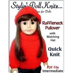 free knitting sweater pattern for american girl doll | Knitting Patterns, DIY Sweaters for American girl and 18 inch doll ...