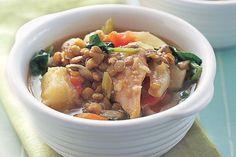 Chicken and lentil hotpot