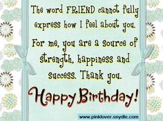 Birthday Card Words For a Friend  Read more at: