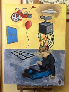 arteacrilico‬, ‎technologyart‬, ‎tabletart‬, ‎acrylicpainting‬, technology, tecnologia, tablet, ipad, wires