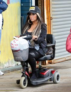 Um... Snooki now using an electric scooter?