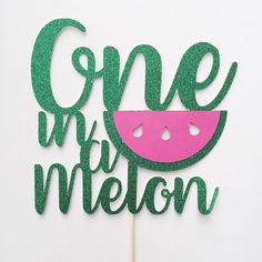 One in a melon- First Birthday- First Birthday Cake- Watermelon Party- Summer Birthday- One in a Melon Cake- BBQ Decor- First Birthday Decor by Thepaperdollsshop on Etsy https://www.etsy.com/listing/490845264/one-in-a-melon-first-birthday-first