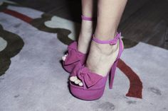 Suede bow-front platforms by Giuseppe Zanotti :-))))