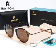 ce276ccc6 R$ 113.67 |Madeira Óculos De Sol Unissex Polarizada Rodada UV400 BAVIRON  2018 Semelhante Homens Óculos de Sol Marca Designer Óculos Vintage Oculos  Senhoras ...