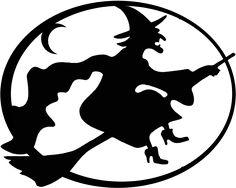Schau Dir das Bild an auf BabyDuda: Kostenlose Scherenschnitte Hexe - Fensterbild für Halloween, Walpurgisnacht und Fasching