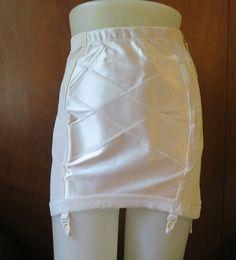 Vintage 5X PLus Size 39-40 waist Girdle, Zipper, satin tummy panel, firm hold