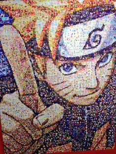 Naruto image composed of Shonen Jump screenshots