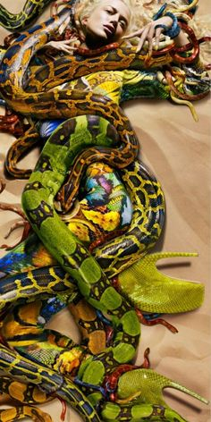 snakes, body paint, McQueen