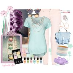 """""""Poppin' Pastels"""" by sparklemar on Polyvore"""