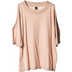Tees Machi top Beige ❤ liked on Polyvore