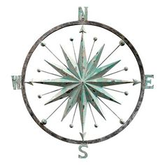 Basil Street Gallery Rose of the Winds Compass Rose Wall Sculpture