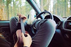 I like this perspective shot, I think with thigh highs and heels it could be cute.With a guitar, not ukulele. Anyways, seems like the life:) Guitar Tips, Guitar Lessons, Party Tattoos, Guitar Photography, Guitar Shop, Music Aesthetic, Playing Guitar, The Life, Steven Universe
