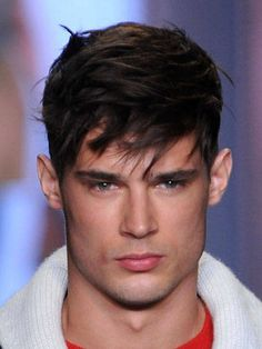 This is a short hairstyle for men looks cool. The two sides of the hair and the back is cut slim and rather long front laid out for separation and texture. This style is perfect for those who look firm and simple. It is one of the trendy men haircuts in 2014 that you can try with