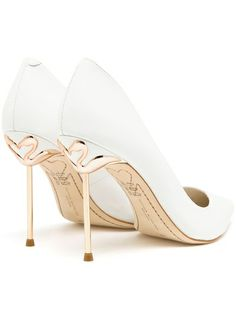 SOPHIA WEBSTER - Coco Pointed Leather Pumps 8  Obsessed with these Flamingo Shoes
