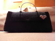 borsetta cuore realizzata con feltro