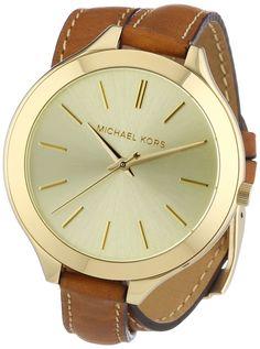 Michael Kors Damen-Armbanduhr Runway Analog Quarz Leder MK2256: Amazon.de: Uhren