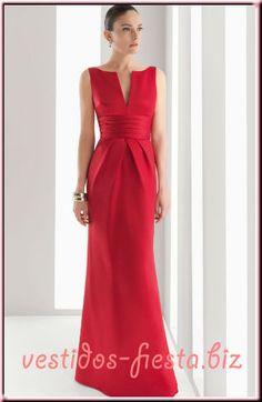 vestidos-de-madrina-largos-elegantes-rojo-rosa-clara