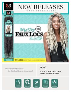 Bobbi Boss crochet braid hair Nu Locs, Dreadlocks, Crochet Braids Hairstyles, Braided Hairstyles, Bobbi Boss Hair, Remy Hair Extensions, Braid Hair, Color Show, Wigs
