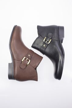 Jarrett by Naturalizer is a versatile leather ankle boot perfect as your staple autumn/winter boot. Available at Rosenberg Shoes in brown and black and sizes AU 10-12.