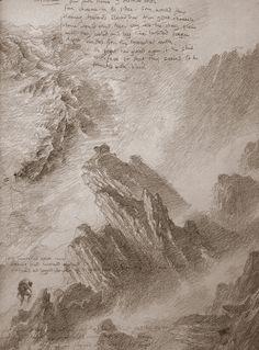 Mordor - Alan Lee (off 'The Lord of the Rings Sketchbook')