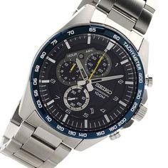 SXA099P1 Seiko Motorsports Watch Stainless Steel Bracelet, Stainless Steel Case, Seiko Watches, Casio Watch, Chronograph, Omega Watch, Watches For Men, Quartz, Crystals