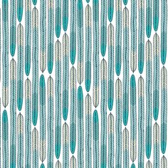 126703 Plumes | Turquoise from Biology by Sarah Watson for Cloud9 Fabrics