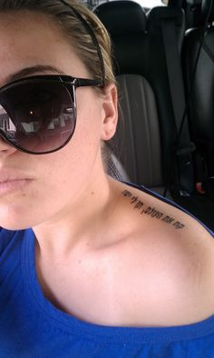 Tattoo !! Hebrew= Take the world but give me Jesus.
