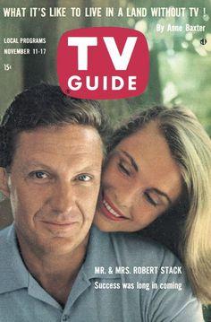 TV Guide: November 11, 1961 - Mr. & Mrs. Robert Stack