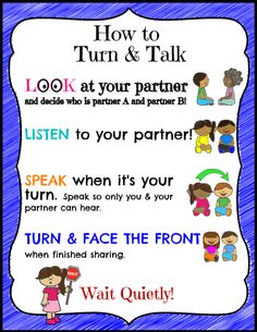 Getting your students to Turn & Talk is a great way to have all students engaged in conversation at the same time. But, at the beginning of the year, your students might need a bit of structure and expectations set. Print and use this expectation/how to poster to help remind students of what to do.