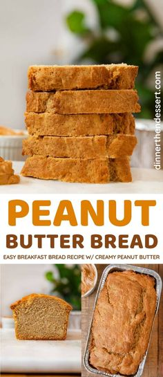 Butter Bread Recipe, Peanut Butter Bread, Peanut Butter Breakfast, Breakfast Bread Recipes, Quick Bread Recipes, Sweet Recipes, Wine Recipes, Dessert Recipes, Fudge Recipes