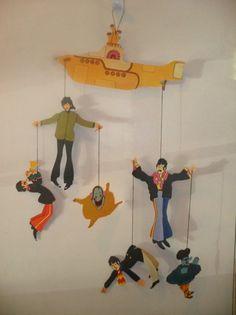 Beatles Yellow Submarine Hanging Mobile New