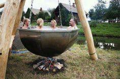 giant hommade hot tub