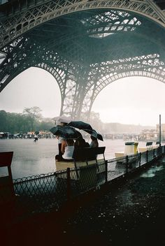 I wanna do this - sit under the tower on a rainy day. :)
