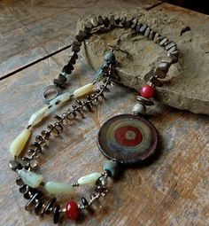 mixed beads stones necklace