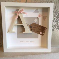 �� Personalised New Baby, Birth, Christening, Boy & Girl Frames Gift/Keepsake