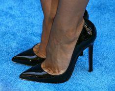 Cheryl Burke:  black patent pumps and toe cleavage