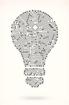 Light Bulb on Circuit Board Circuit Board on royalty free vector. Light Bulb On Circuit Board Clipart vectoriel 185715908 Design Set, Web Design, Logo Design, Circuit Board Design, Circuit Board Tattoo, Graphic Pattern, Light Bulb Art, Free Vector Backgrounds, Grafik Design