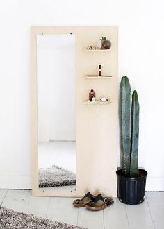 Anthology Magazine | Design | DIY Plywood Floor Mirror