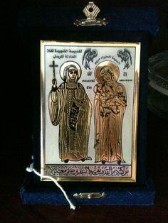 Icon of St. Thekla and Theotokos, from St. Thekla's Monastery outside Damascus, Syria
