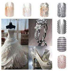 Beautiful for Brides, and your bridesmaids can pick matching nails :) Jamberry Nail Wraps