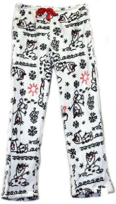 Frozen Olaf Women's Juniors Plush Minky Fleece Lounge Pajama Bottom Sleep Pants (Large) >>> Be sure to check out this awesome product.