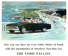 1960 Ford Falcon 2 Door Sedan. Grandpa helped me get my 1st car. It was old, but it was mine. And it was only $75.00